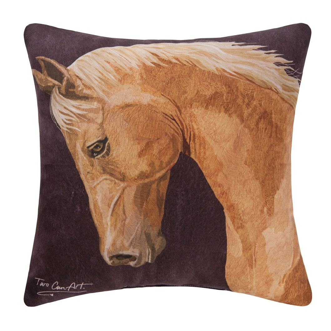 Chestnut Horse Pillow