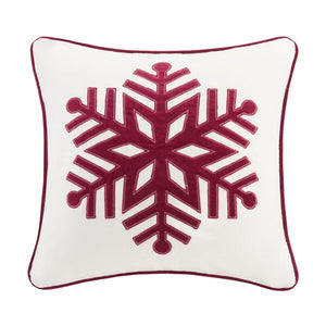 Red Velvet Snowflake Pillow