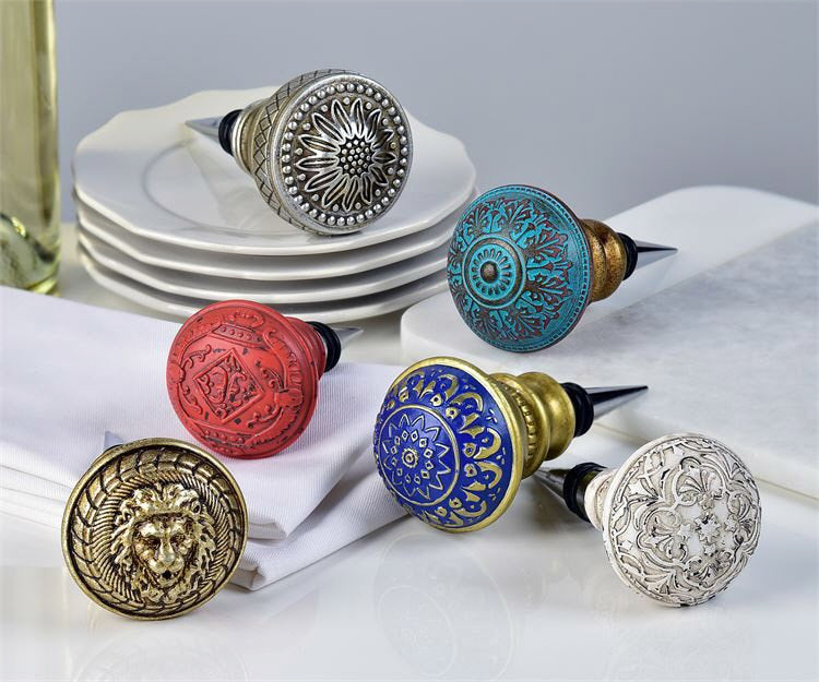 Antique Drawer Pull Design Bottle Stoppers