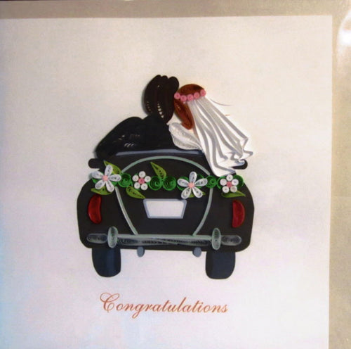 Newly Wed Quill Card