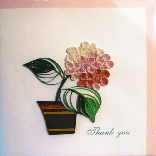 Thank You Quill Card- Flower