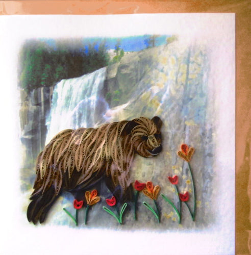 Brown Bear Quill Card