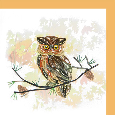 Brown Owl Quill Card