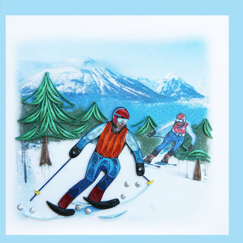 Skiier Quill Card