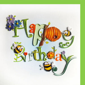 Happy Birthday Quill Card