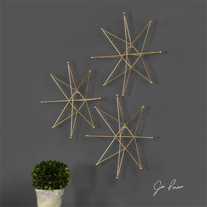 Metal Gold Star Wall Decor
