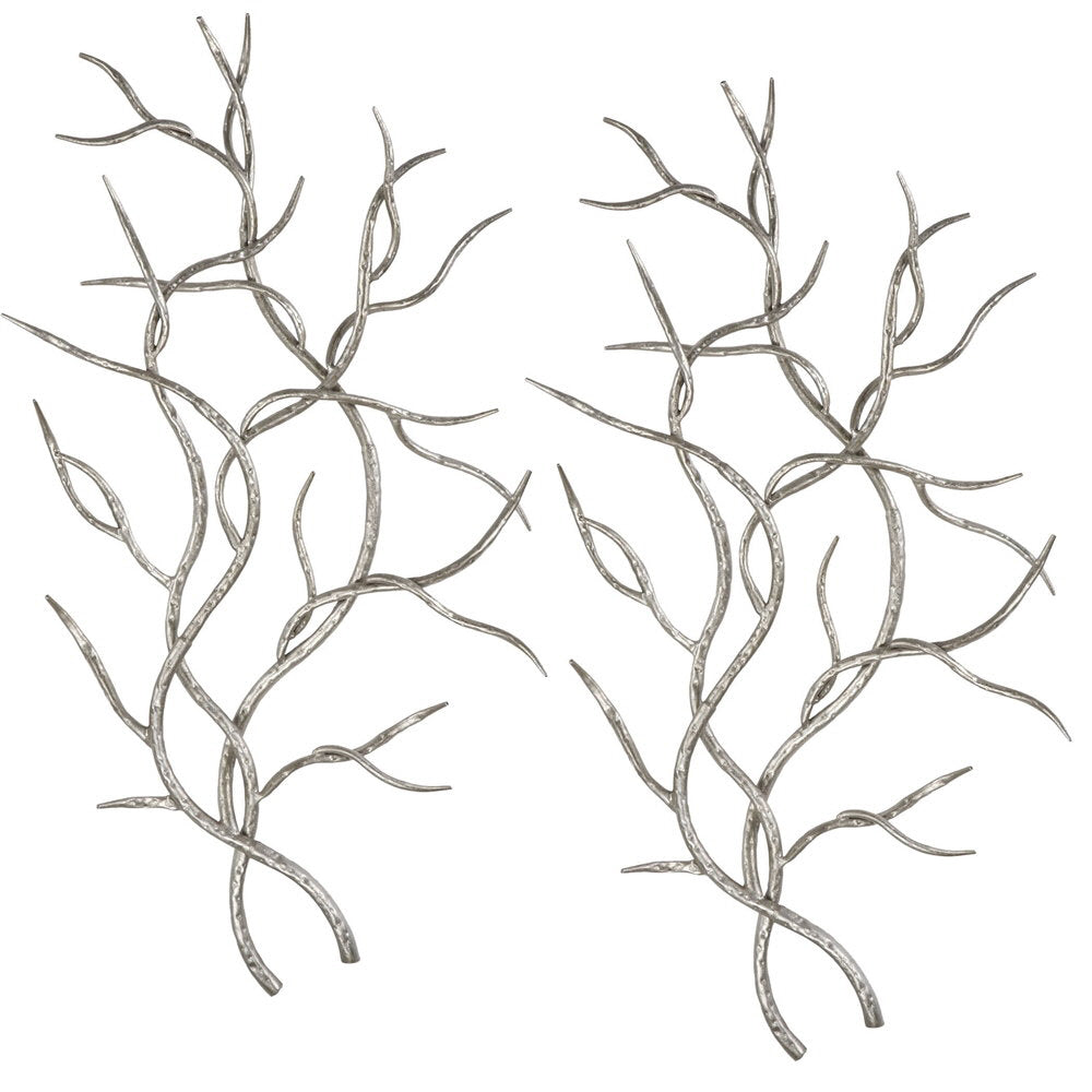 Silver Branches Metal Wall Decor