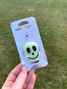 "Glow Skull Inspired ""Pop"" Cell Phone Grip/ Stand"