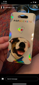 "Custom ""Rex"" Dog Head Inspired ""Pop"" Cell Phone Grip/ Stand"