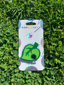 "Cartoon Leaf Inspired ""Pop"" Cell Phone Grip/ Stand"