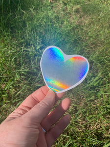 Holographic Heart Vinyl Decal
