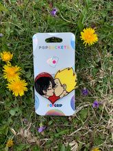 "Load image into Gallery viewer, Glitter Custom Bulma/Vegeta Inspired ""Pop"" Cell Phone Stand/ Grip"