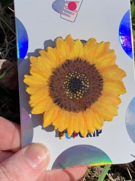 Glitter Sunflower Inspired Badge Addition