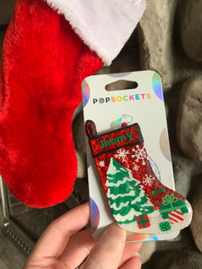 "Personalized Glitter Christmas Stocking Inspired ""Pop"