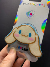 "Load image into Gallery viewer, Custom Glitter Cinnamoroll Head Inspired ""Pop"" Cell Phone Grip/ Stand"