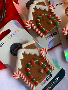 "Gingerbread House Inspired ""Pop"" Cell Phone Grip/ Stand"