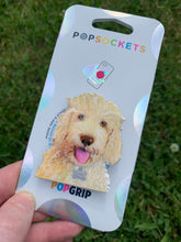 "Load image into Gallery viewer, Rizzo Labradoodle Dog Head Inspired ""Pop"" Cell Phone Grip/ Stand"