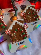 "Load image into Gallery viewer, Gingerbread House Inspired ""Pop"" Cell Phone Grip/ Stand"