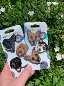 "Custom Dog Inspired ""Pops"" Cell Phone Grips/ Stands - 3 Pack"