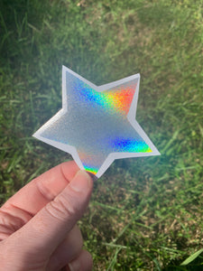 Holographic Star Vinyl Decal