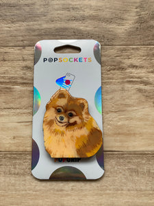 "Custom ""Lola"" Pomeranian Dog Head Inspired ""Pop"" Cell Phone Grip/ Stand"