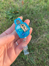 "Load image into Gallery viewer, Health/Mana Potion Bottle ""Shaker"" Inspired Swivel Badge Reel"