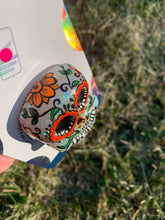 "Load image into Gallery viewer, Glow Sugar Skull Inspired ""Pop"" Cell Phone Grip/ Stand"