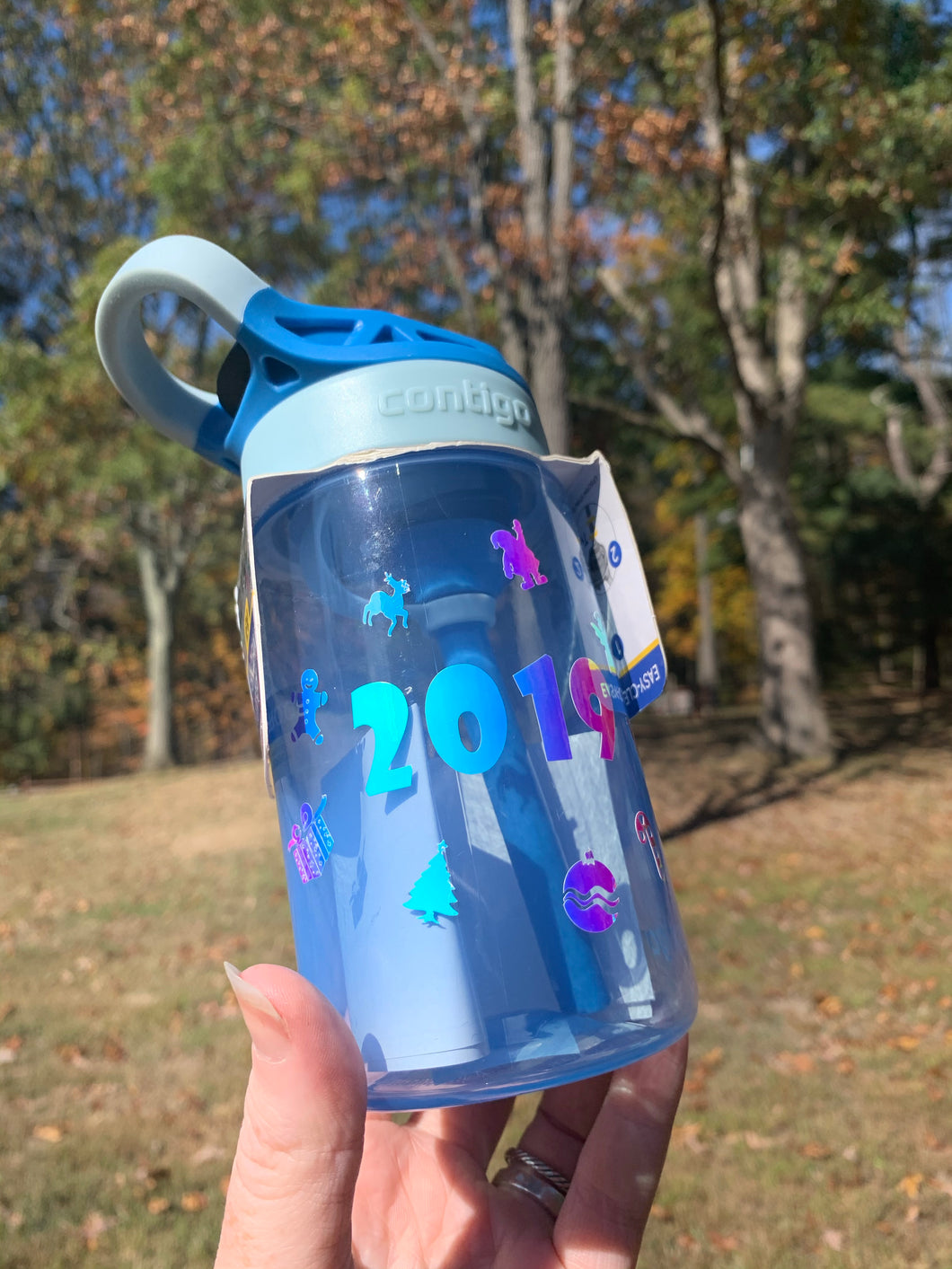 Holographic 2019 Christmas Inspired Contigo Water Bottle