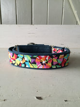 Load image into Gallery viewer, Rescued collar - Denim bright shapes (Large)