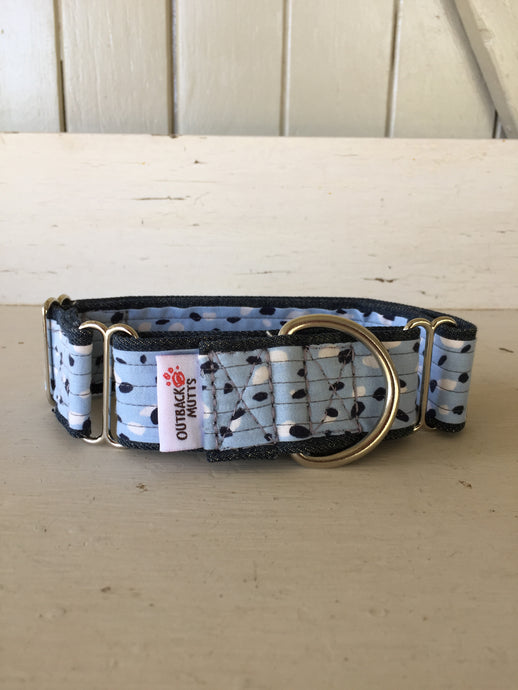 Rescued collar - Blue dot (Medium)