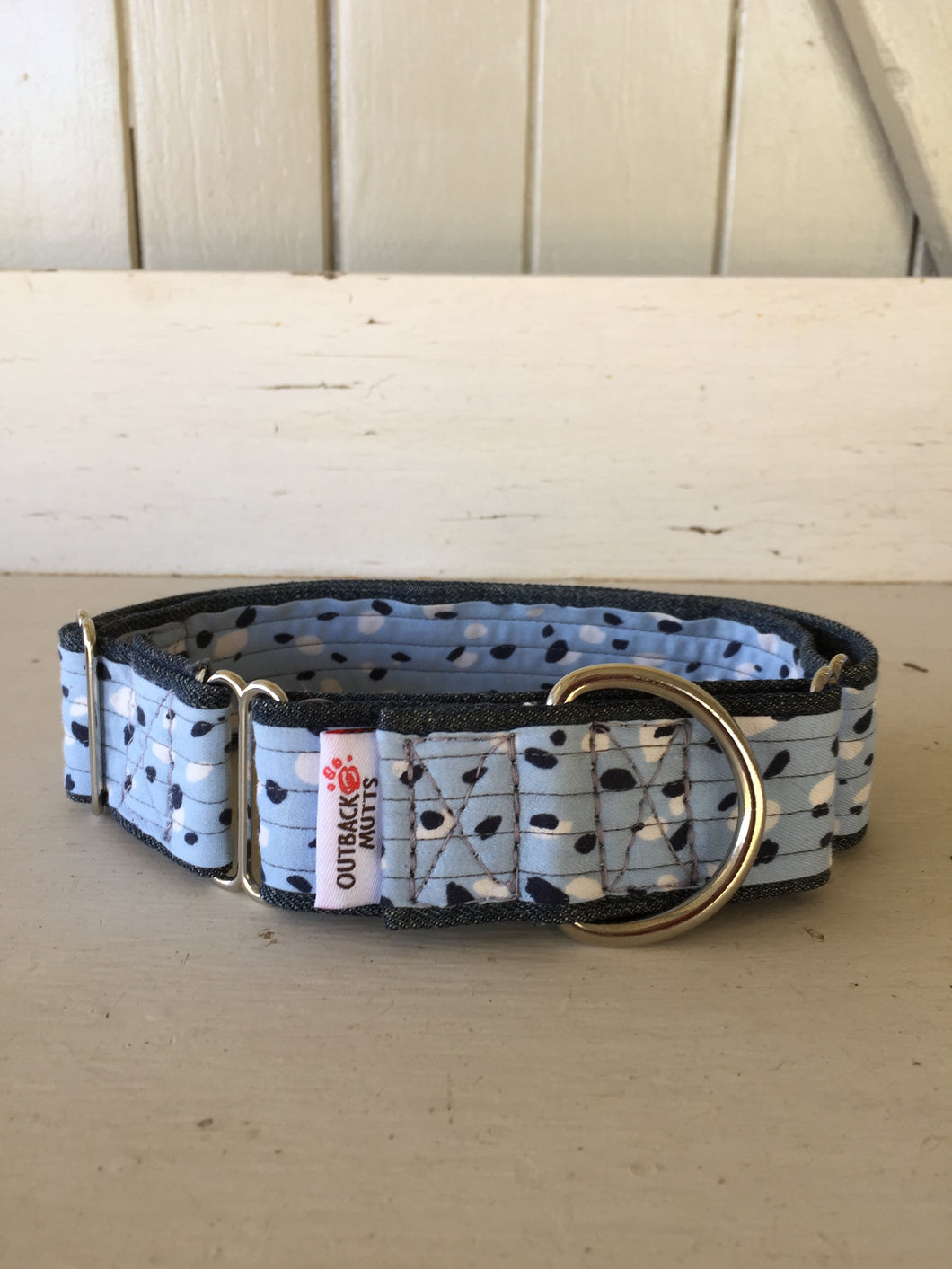 Rescued collar - Blue dot (Large)