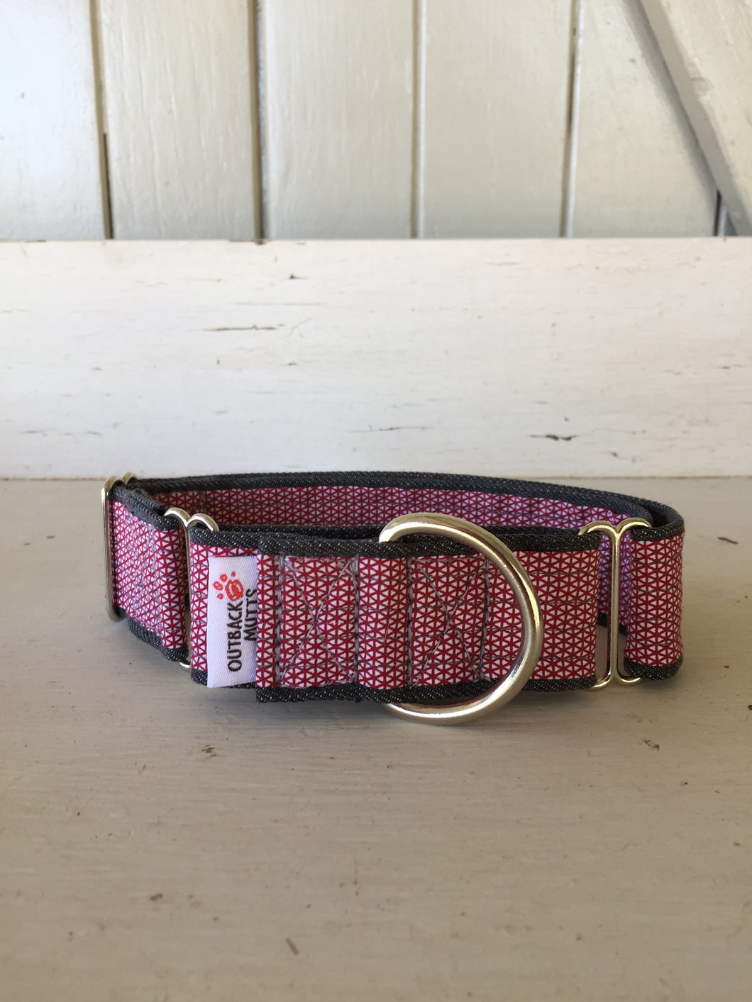 Rescued collar - Red diamond (Medium)