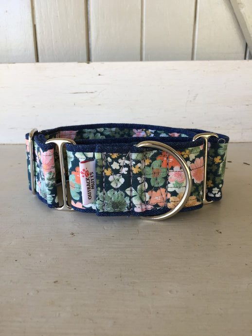 Rescued collar - Floral (Medium extra wide)