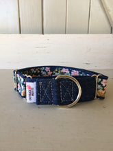 Load image into Gallery viewer, Rescued collar - Denim Floral (Large)