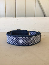 Load image into Gallery viewer, Rescued collar -  Denim navy dash (Medium)
