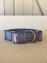 Load image into Gallery viewer, Rescued collar -  Navy dash (Medium)