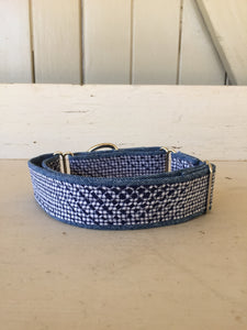 Rescued collar -  Navy dash (Medium)