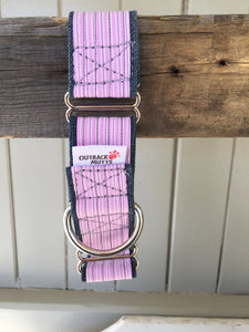 Rescued collar - Pink Stripe