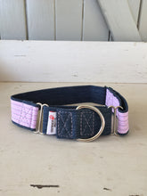 Load image into Gallery viewer, Rescued collar - Denim Pink Stripe