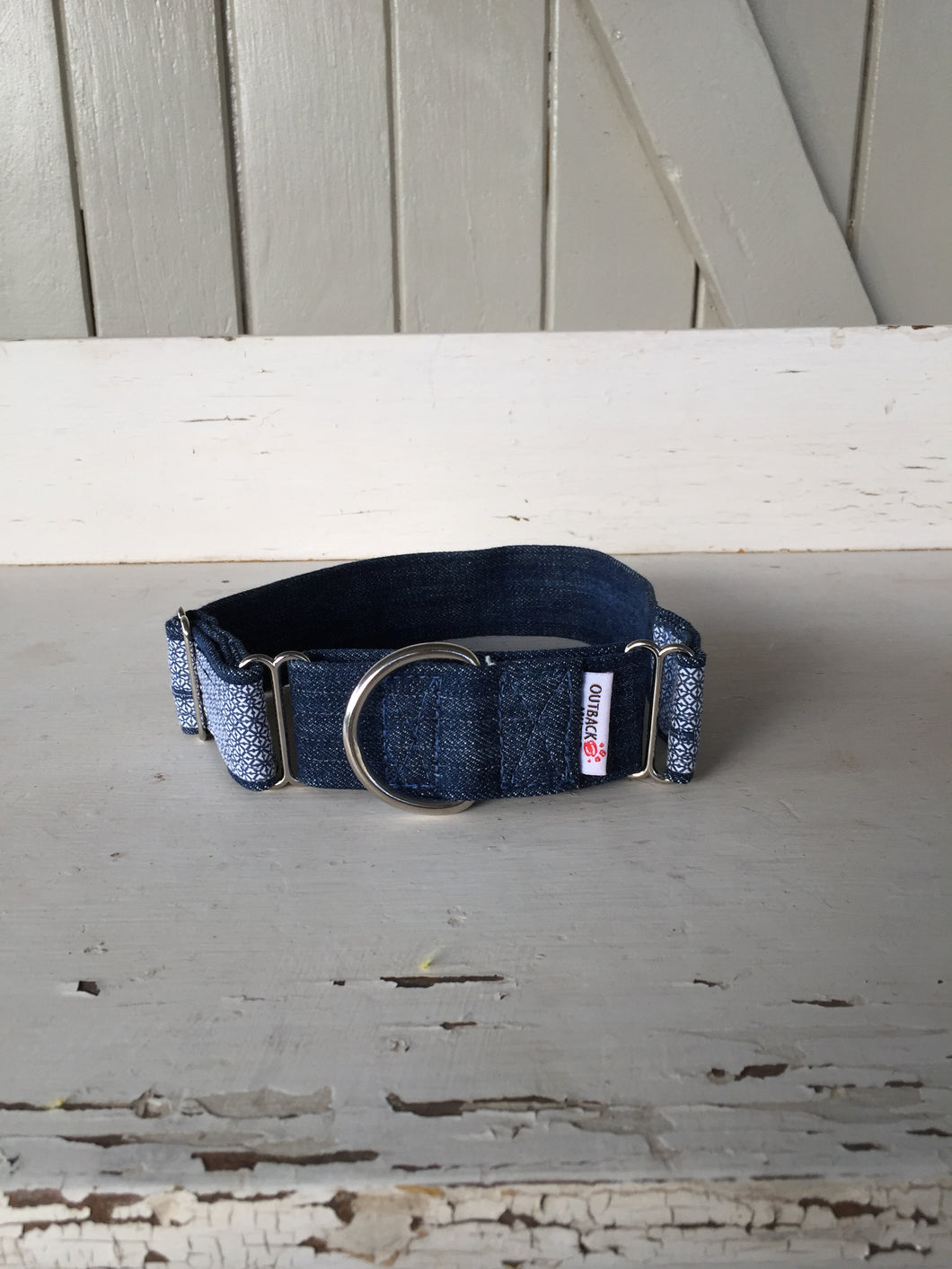 Rescued collar - Denim diamond