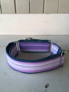 Rescued collar - Purple stripe