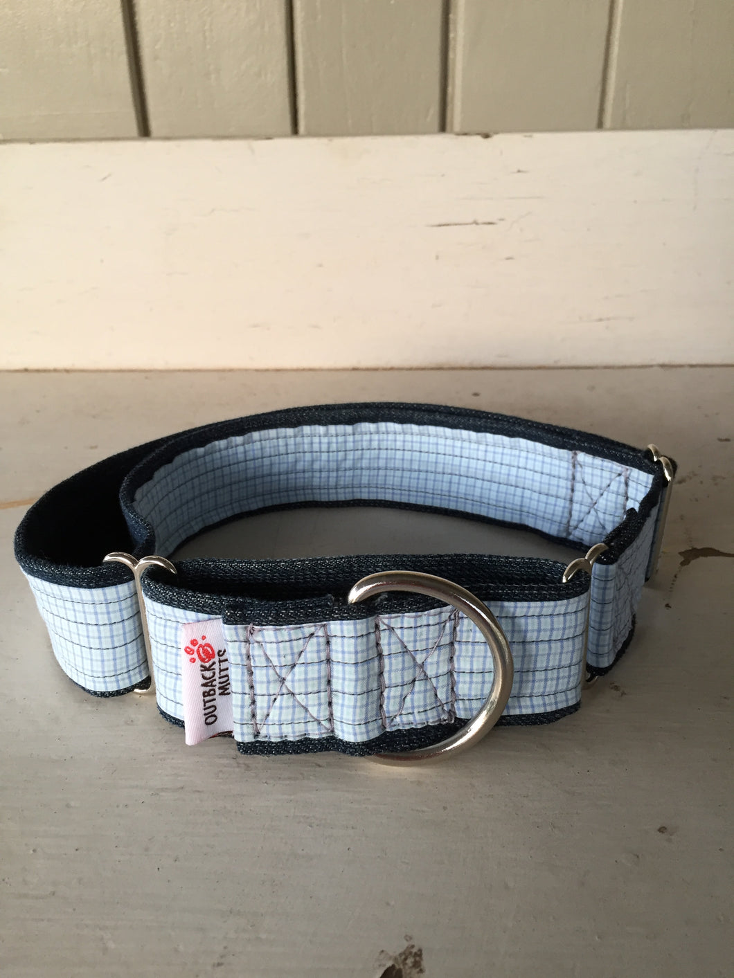 Rescued collar - Blue stripe