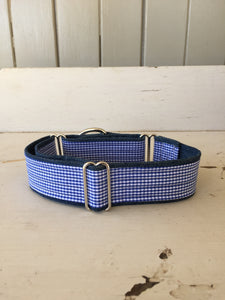 Rescued collar - Blue check