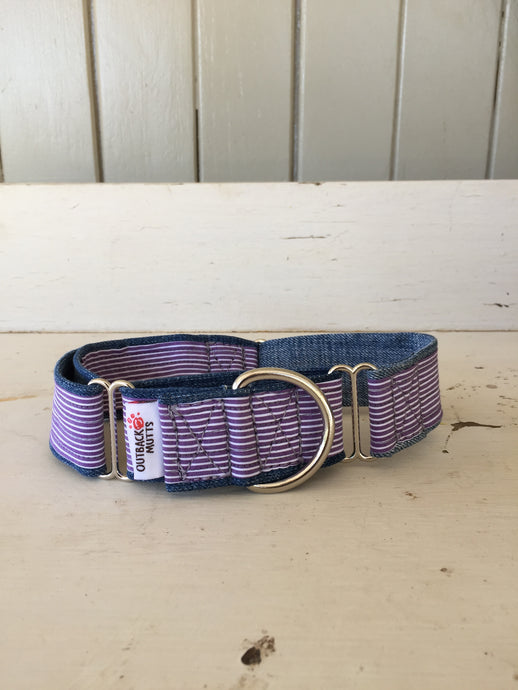 Rescued collar - Purple stripe II