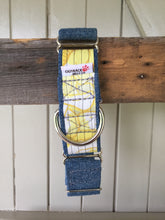 Load image into Gallery viewer, Rescued collar - Yellow Denim (Large)