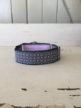 Load image into Gallery viewer, Rescued collar - Pink navy diamond (Medium)
