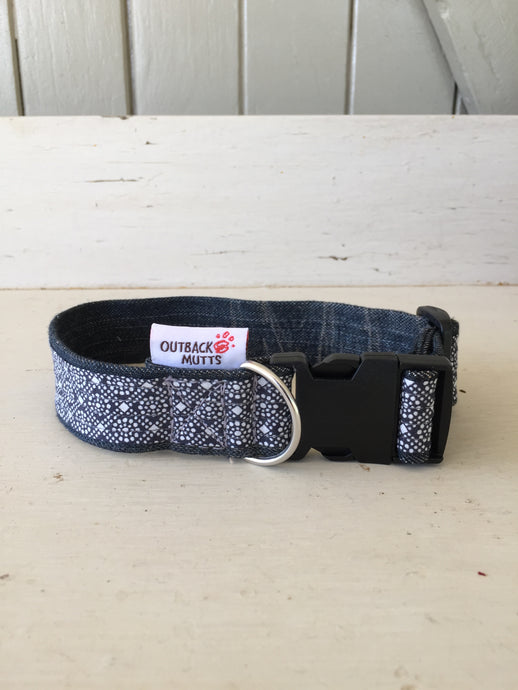 Rescued collar - Blue diamond (small)