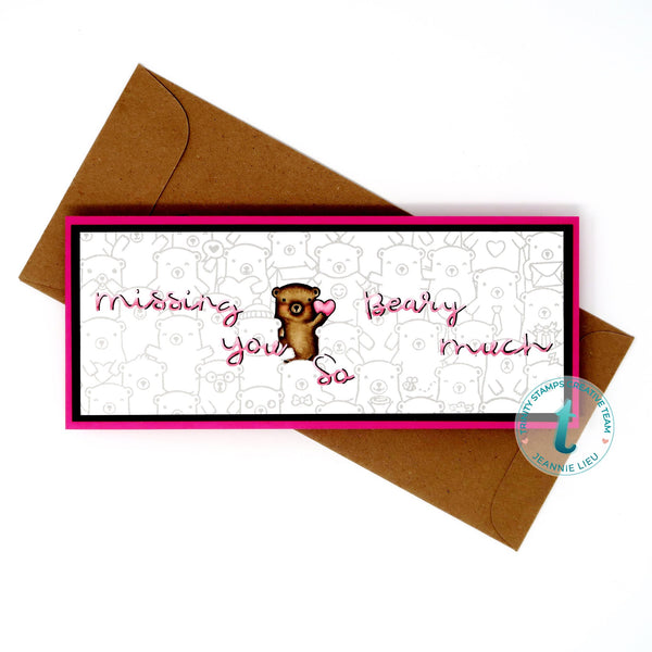 Beary Special Slimline 4x11 Stamp Set