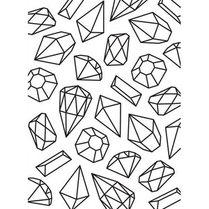 Hand Drawn Gems Pattern - Background Embossing Folder