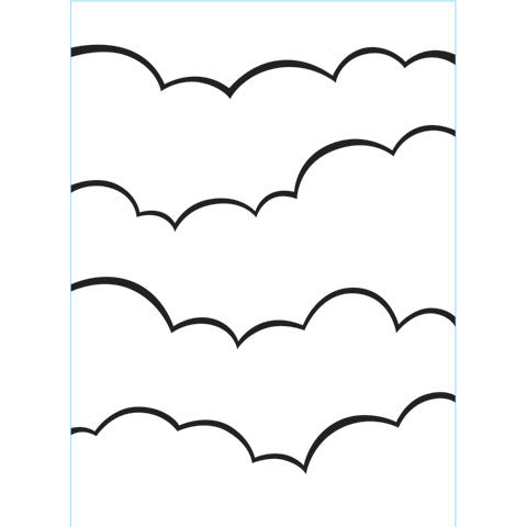 Clouds - Background Embossing Folder
